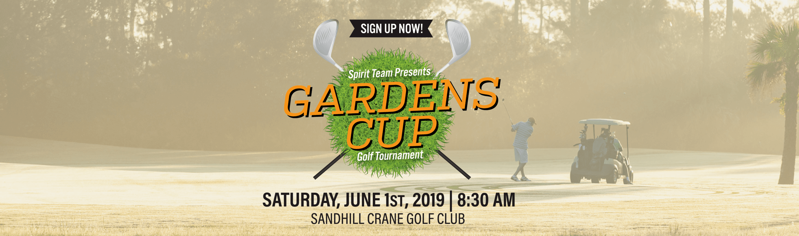 2019 Gardens Cup Golf Tournament, Saturday, June 1, 2019 at 8:30 a.m.