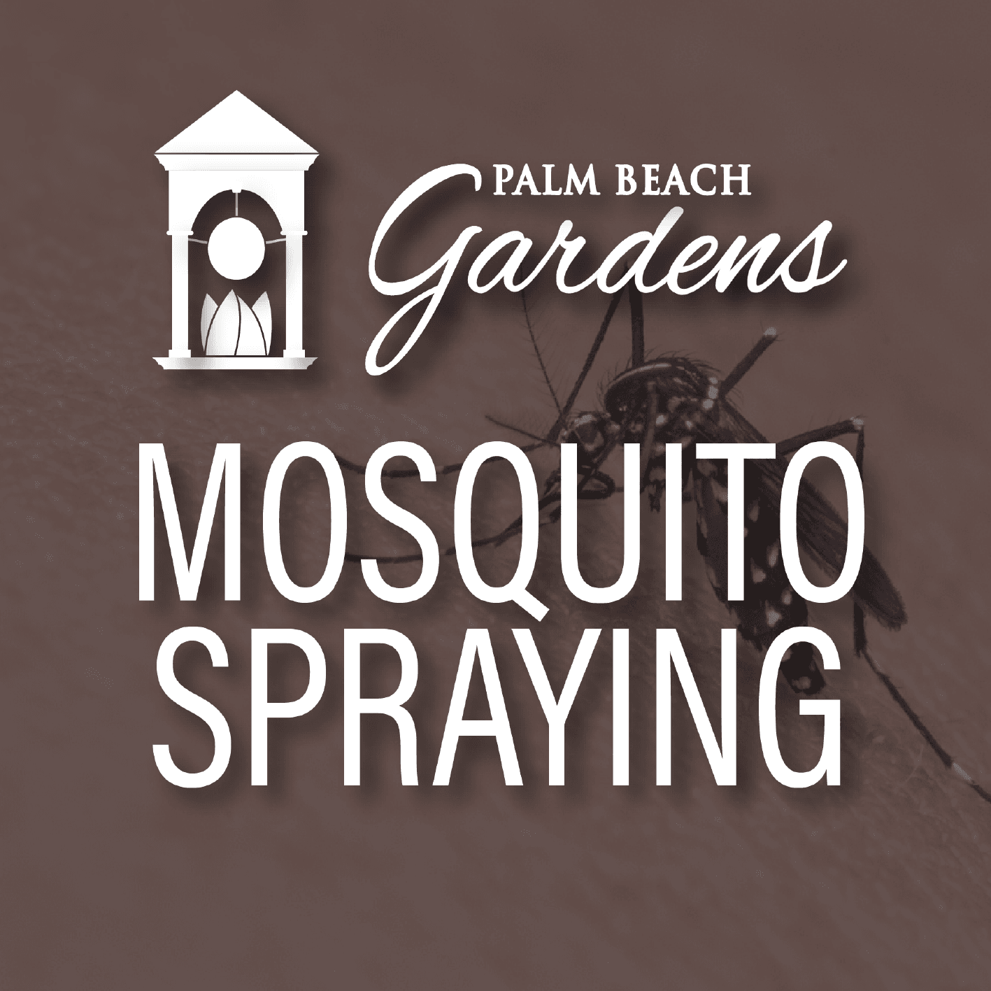 Mosquito Spraying Advisory- week of May 20th.