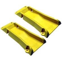 Yellow wheel locks.