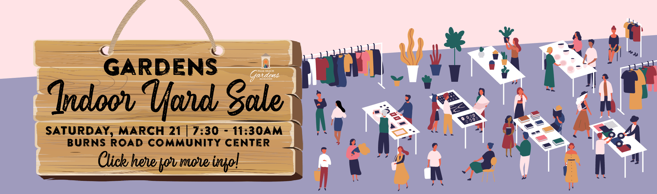 Indoor Yard Sale- Saturday, March 21 at Burns Road Community Center from 7:30 to 11:30 a.m.
