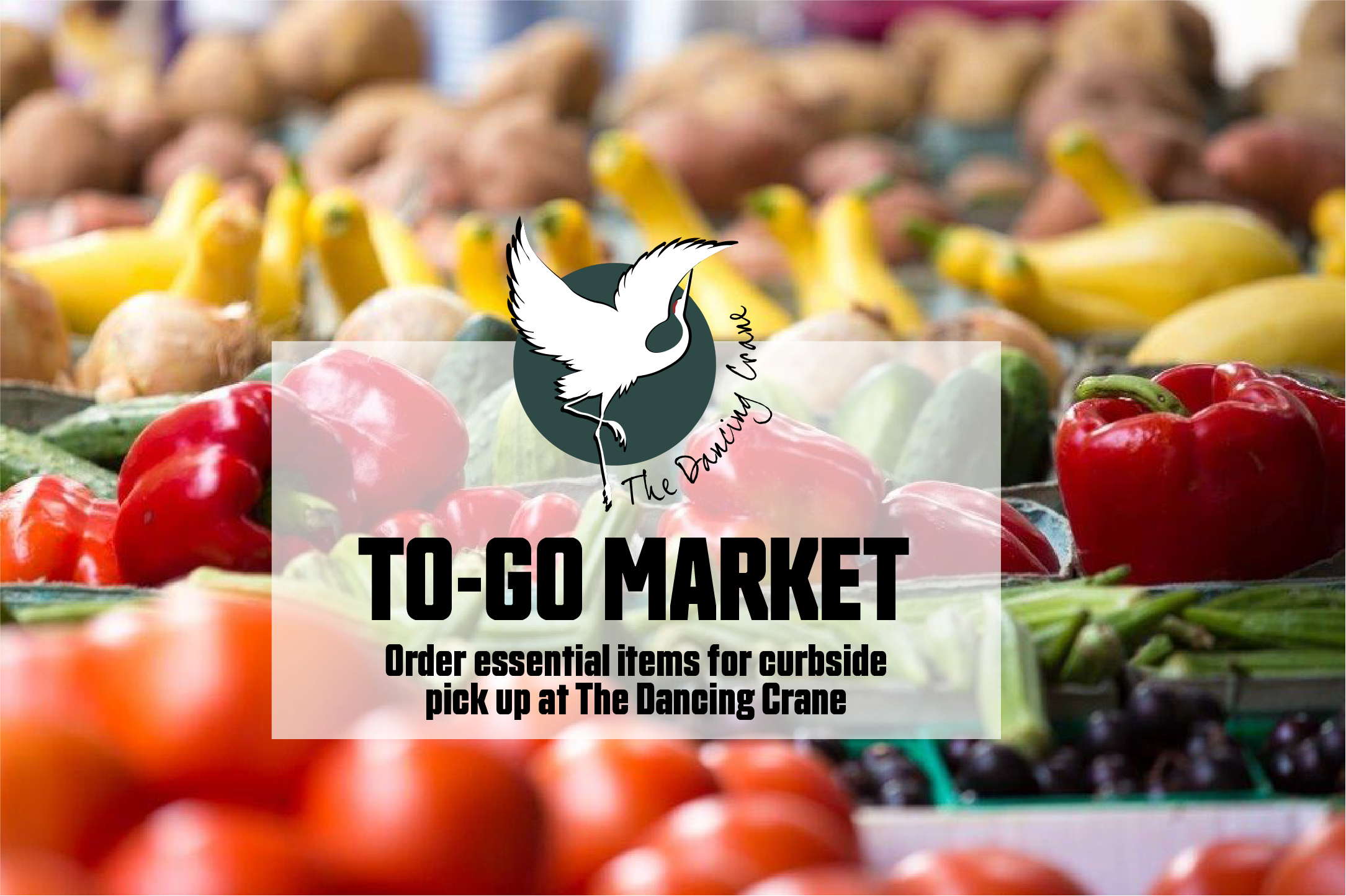 The Dancing Crane to go market now available.