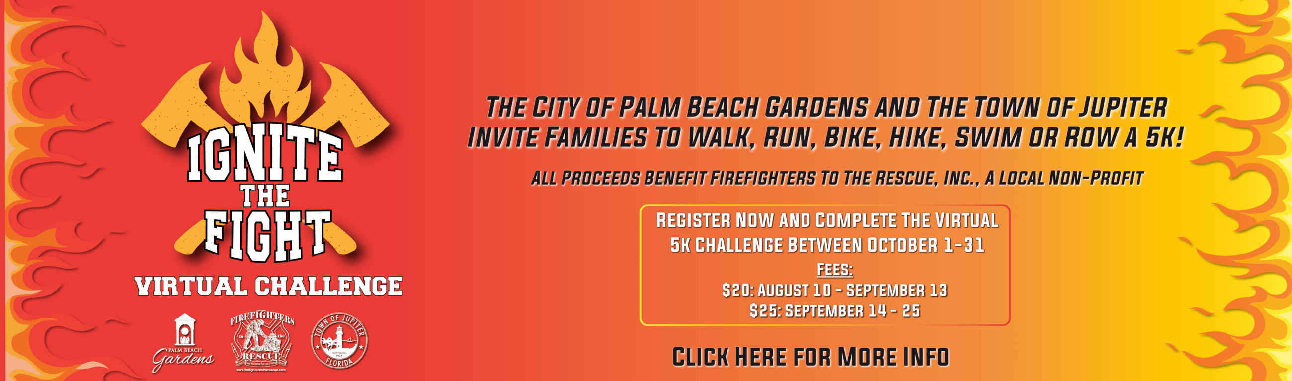 Ignite the Fight 5K event registration.