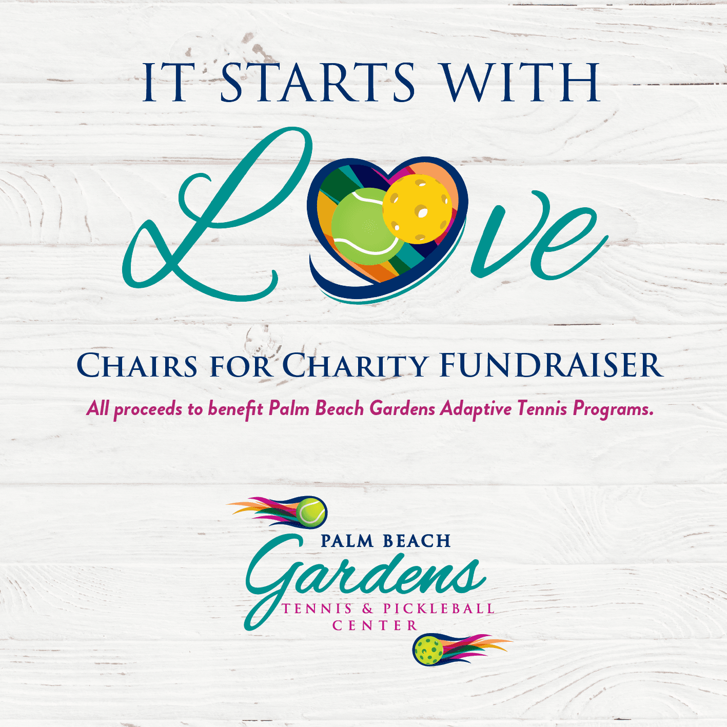 Chairs For Charity virtual fundraiser begins November 19, 2020.