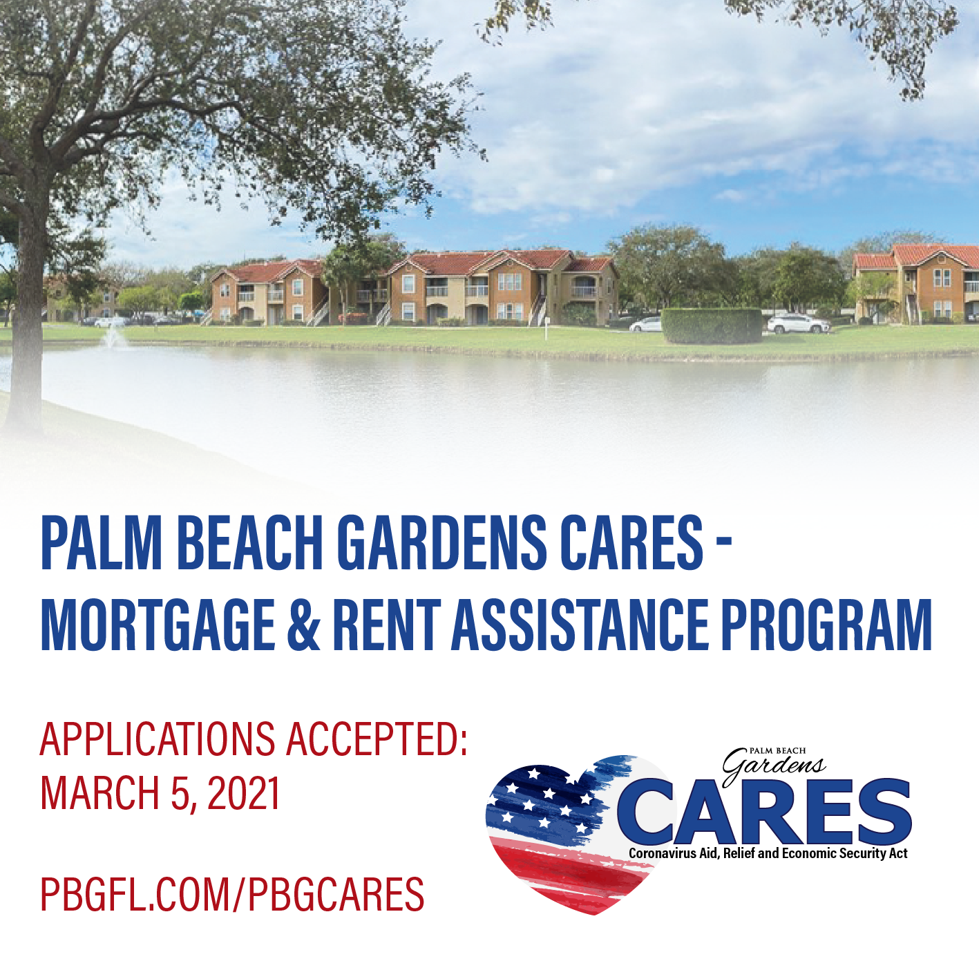 Palm Beach Gardens CARES Mortgage and Rent Assistance Progarm.