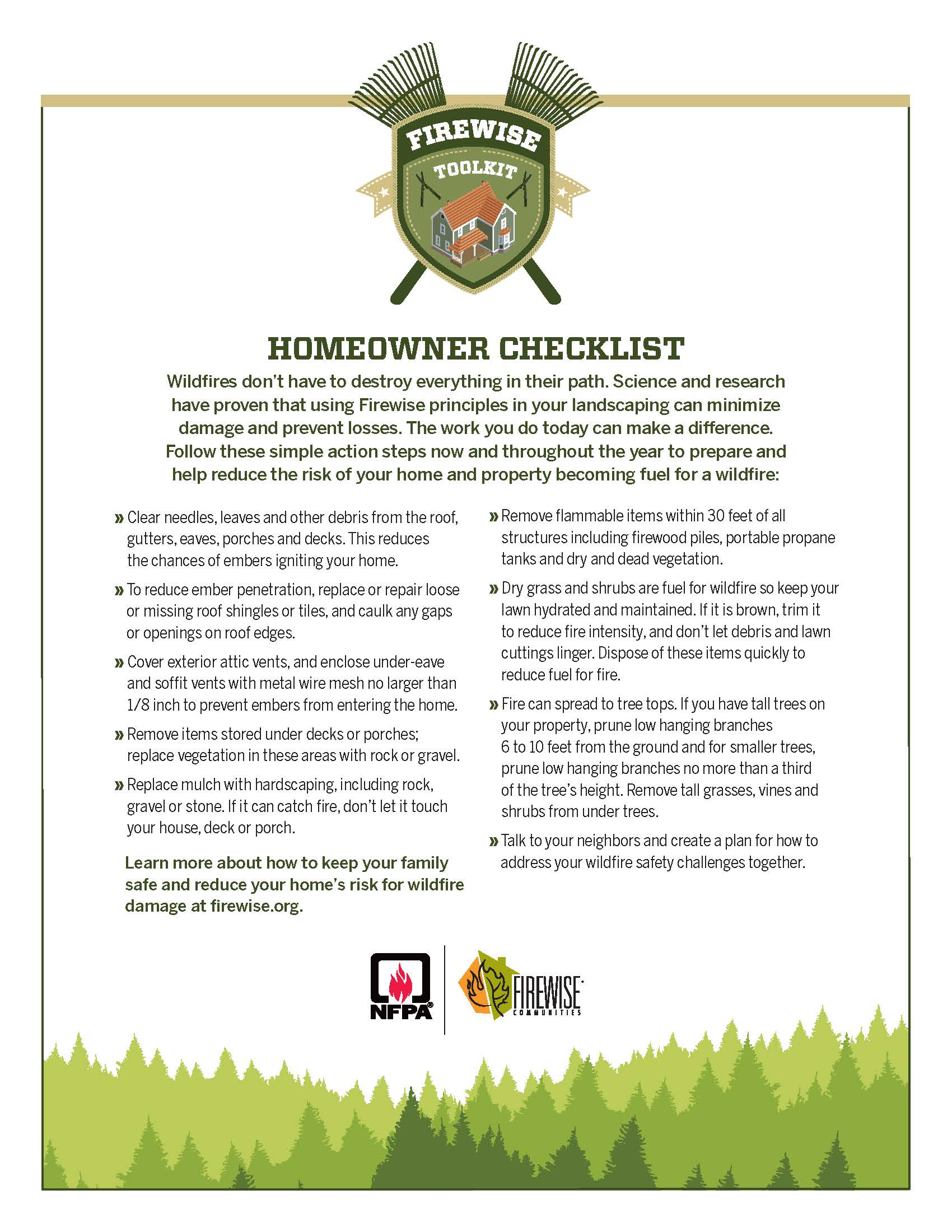 Click Here to View the Fire Safety Homeowner Checklist