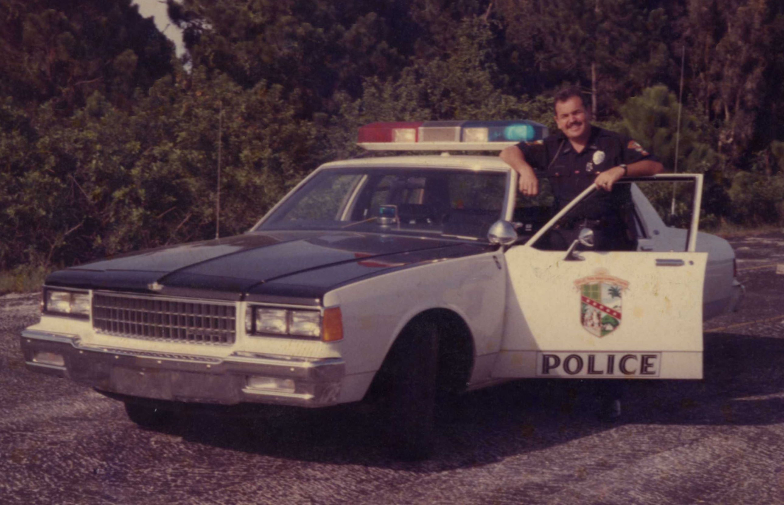 Police Car and Officer Circa 1990's